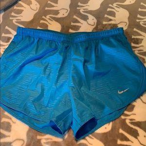 Brand new light blue Nike running shorts